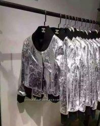 Брендовая куртка кожа Chanel Оригинал