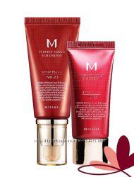 ВВ-крем номер 1 Missha M Perfect Cover 20 ml и 50 ml тон 21 и 23 пробник