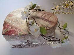 Веночек с цветочками из фоамирана