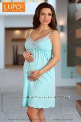 Рубашка ночная для беременных и кормящих грудью LUPOLINE 1571