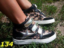 сникерсы ботинки с леопардовым принтом
