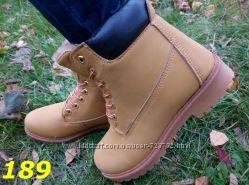 ботинки цвета мега теплые меховые timberland реплика