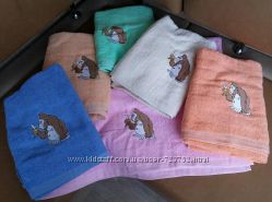 Махровые полотенца 70х140 плед 200х230