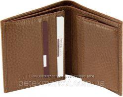 Компактный качественный мужской бумажник Petek, натуральная кожа. Оригинал.
