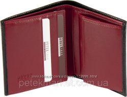 Солидный качественный мужской бумажник Petek, натуральная кожа. Оригинал.