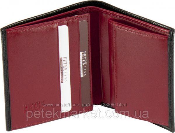 9b7f8cdb500f Солидный качественный мужской бумажник Petek, натуральная кожа. Оригинал,  1140 грн. Мужские портмоне и кошельки купить Киев - Kidstaff | №9140700