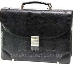 Авторитетный мужской кожаный портфель Petek. Турция, 100 оригинал. Best