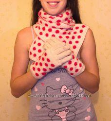 Комплект шарф перчатки горох Colins