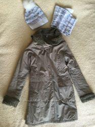 Осеннее пальто куртка парка оливковое