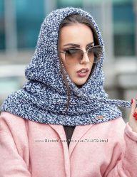 Снуд капор шарф шапка зима 2017