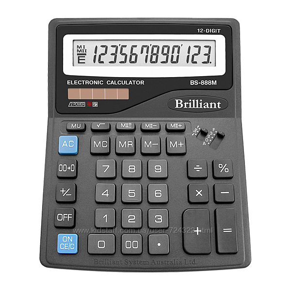 Калькулятор Brilliant BS888М, 12 разрядов
