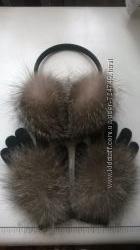 Меховые перчатки из лисы, песца, кролика и т. д.