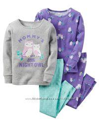 Пижамы CARTERS  для девочек от р. 12 мес. -5Т