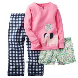 Пижамы Carters  тройки  от 2 до 5 лет