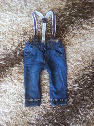Модные джинсы на подтяжках
