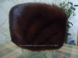 Шапка из меха норки натуральный р. 54-60