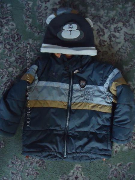 Куртка зимняя с термо варежками ТМ Mariquita Польша р. 98-116