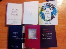 Новые пробники мужской и женской парфюмерии. Chanel, Cartier, Lancome