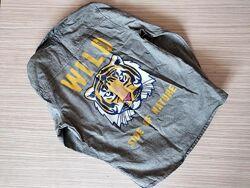 Рубашка с тигром пепко pepco р. 122
