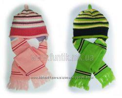Шапка - шарф шерсть Лютик