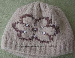Теплый комплект шапка и шарф