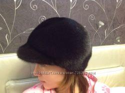 Норковая шапка кепка картуз жокейка РАСПРОДАЖА