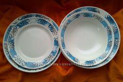Тарелки мелкие и глубокие Ромашки