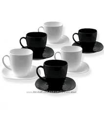 Чайный сервиз Люминарк черно-белый