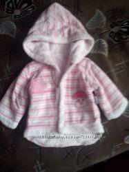 Классная, новая, теплая курточка для малышки деми 3-9 мес.