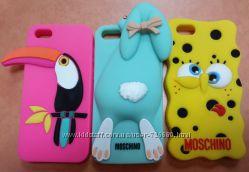 Забавные чехлы  для IPhone 5 и 5S силикон