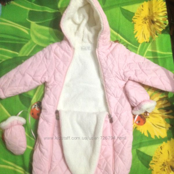 Комбинезон-мешок деми Monna Rosa 6-9 месяцев