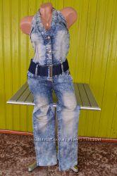 Классный комбинезон джинсовый