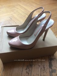 Туфли лодочки, босоножки Zara р. 36 цвета nude
