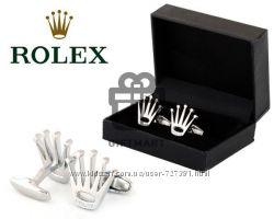 Стильные запонки Rolex, Dunhill, Patek Philippe