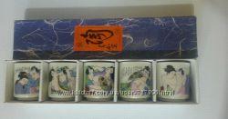 Японские керамические рюмки для саке Камасутра