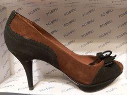 Туфли Pompili, Италия, вечерние - новые, замша, 37р23см, 39р25см