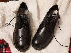 Оксфорды броги Alesya, Италия - новые туфли, натур кожа, 39р, 25см