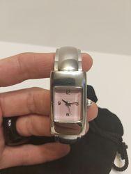 Наручные часы Ив Роше, женские, часы-браслет, новые, розовый и серебро