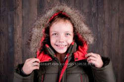 Зимняя куртка парка Хаки оранж Малыш Esto Эсто