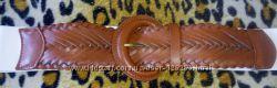 Пояс ремень плетенка резинка коричный белый Орифлейм новый