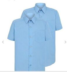 Рубашка сорочка George Англия голубая 12-13л 152-158см короткий рукав