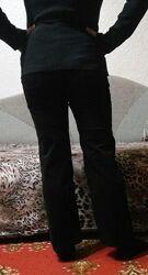 Фирменные вельветовые черные штаны брюки для беременных бу демисезон
