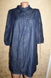 42 eur. H&M Know стильное джинсовое платье - туника. Состояние нового  Длин