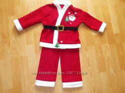 Карнавальный костюм Санта на мальчика 4-5 лет