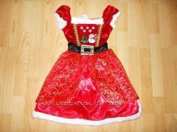 Карнавальное платье мисс Санта на 6-8 лет