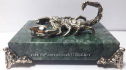 Фигурка Скорпиона Знак Зодиака 24. 10-22. 11 бронза на камне ужалит бо-бо