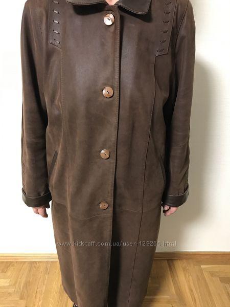 Кожаное пальто размер хххl