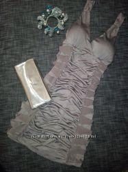 Потрясающее платье из стрейч атласа, прекрасно для праздника