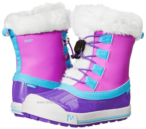 Зимние сапоги ботинки Merrell размер 2, наш 33 21 см.