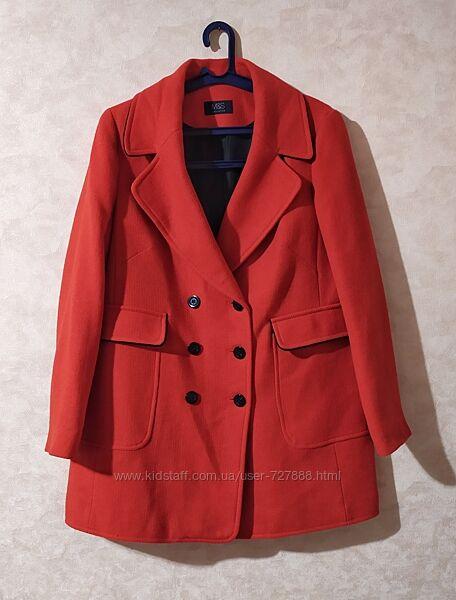 Актуальное шерстяное пальто marks spenser, 3xl